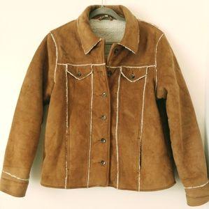 Saguaro West faux suede coat size L
